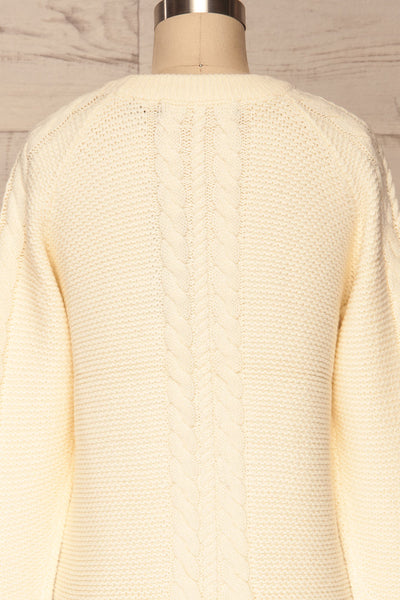 Imielin Ivory Knit Sweater back close up | La Petite Garçonne