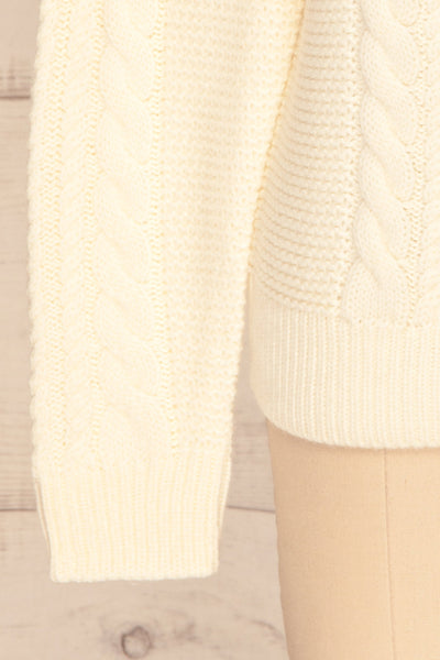 Imielin Ivory Knit Sweater sleeve close up | La Petite Garçonne