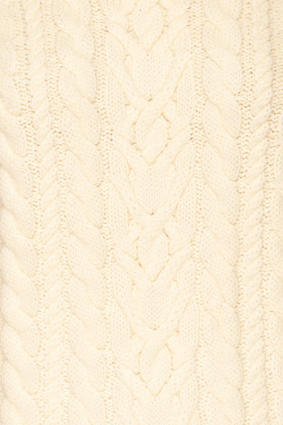 Imielin Ivory Knit Sweater texture close up | La Petite Garçonne