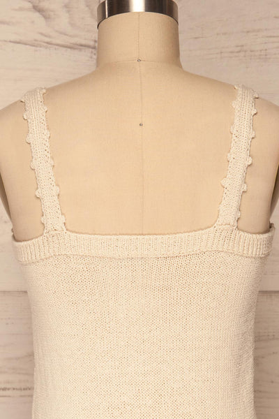 Innsbruck Beige Knit Camisole | La petite garçonne back close up