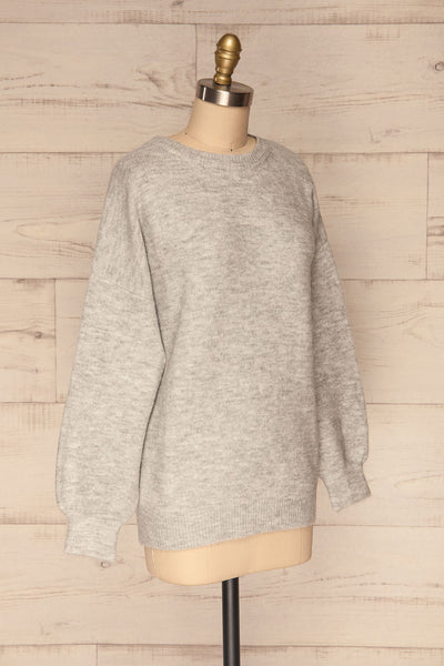 Iocaste Grey Variegated Oversized Sweater | La Petite Garçonne side view