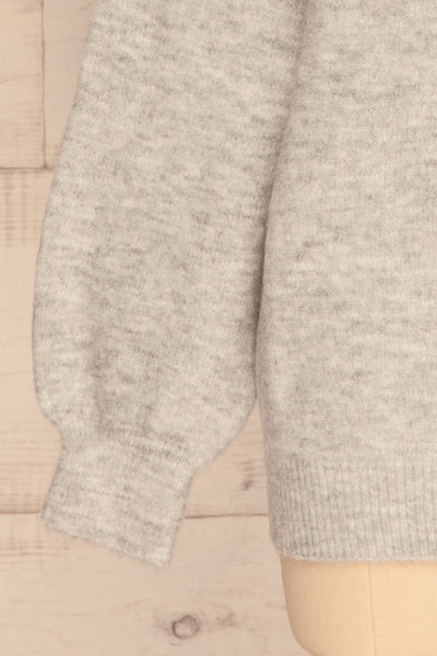Iocaste Grey Variegated Oversized Sweater | La Petite Garçonne bottom close-up