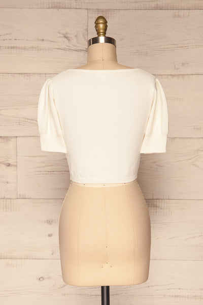 Ionia Ivory Short Sleeved Knit Crop Top | La Petite Garçonne 5