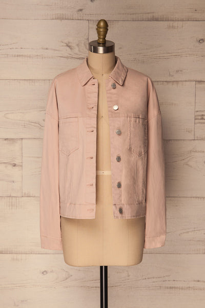 Ypsos Pink Jean Jacket with Buttons & Pockets | La Petite Garçonne 1