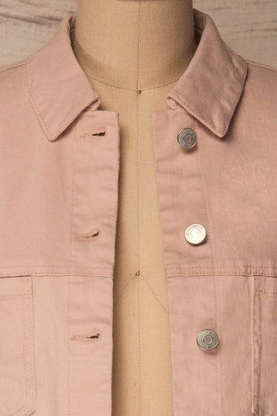 Ypsos Pink Jean Jacket with Buttons & Pockets | La Petite Garçonne 2