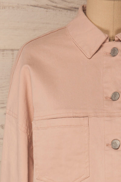 Ypsos Pink Jean Jacket with Buttons & Pockets | La Petite Garçonne 4