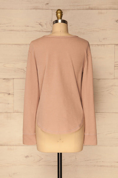 Ivanic Pink Textured Round Hem Long Sleeves Top | La Petite Garçonne 6