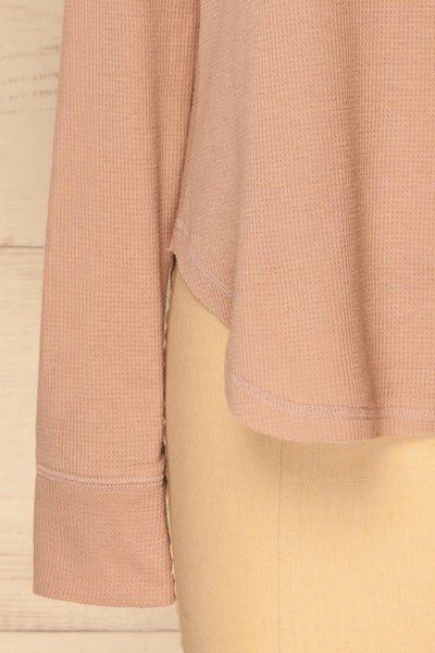 Ivanic Pink Textured Round Hem Long Sleeves Top | La Petite Garçonne 8
