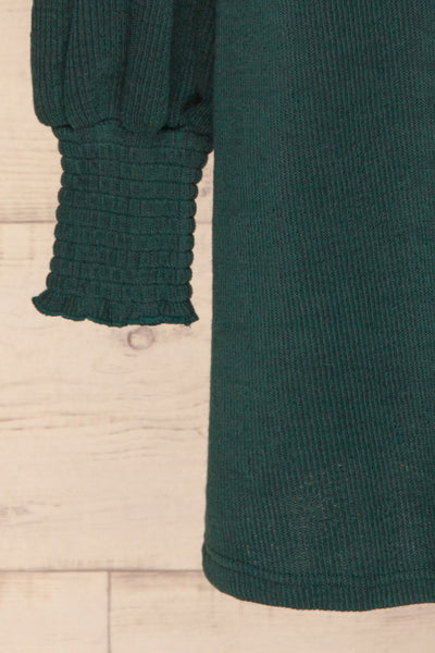 Jaen Teal Ribbed Long Sleeve Dress | La petite garçonne bottom