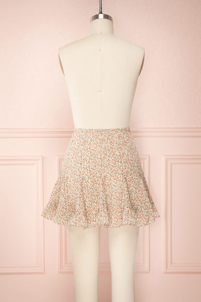 Jaimie Floral Short Skirt w/ Frills | Boutique 1861 back view