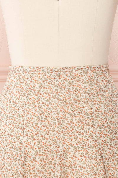 Jaimie Floral Short Skirt w/ Frills | Boutique 1861 back close up