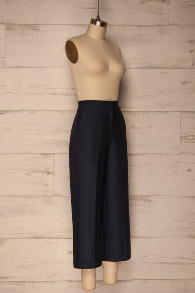 Jarero Navy Blue Cropped Dress Pants side view | La Petite Garçonne Chpt. 2 3