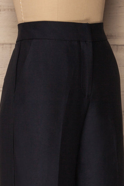 Jarero Navy Blue Cropped Dress Pants side close-up | La Petite Garçonne Chpt. 2 4