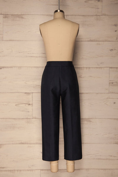Jarero Navy Blue Cropped Dress Pants back view | La Petite Garçonne Chpt. 2 5