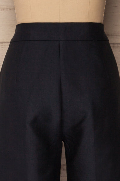 Jarero Navy Blue Cropped Dress Pants back waist close-up | La Petite Garçonne Chpt. 2 6
