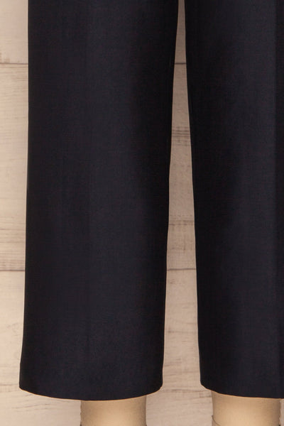Jarero Navy Blue Cropped Dress Pants leg close-up | La Petite Garçonne Chpt. 2 7