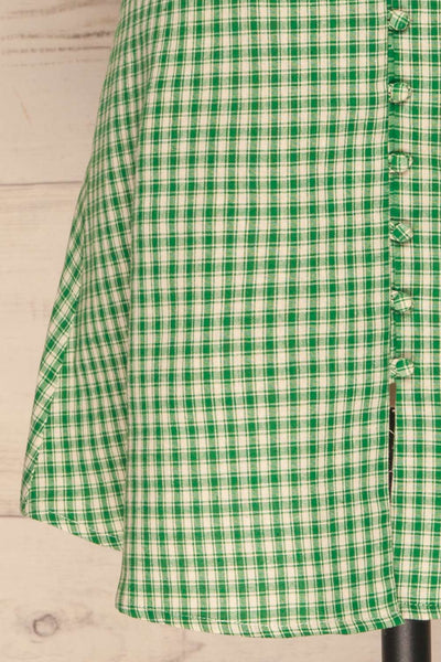 Jirina Green Gingham Short Dress | La petite garçonne skirt