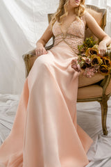 Jonhgan Blush Pink Embroidered Maxi Dress | Boudoir 1861