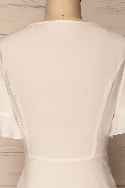 Josidpol White Short Sleeved Button-Up Top | La Petite Garçonne 7