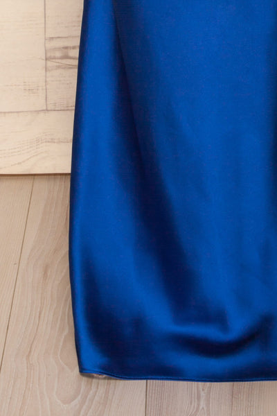 Jude Royal Blue | Robe Satinée Bleue
