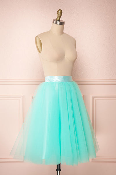 Julieth Menthe Light Turquoise Tulle Skirt | Boutique 1861 3