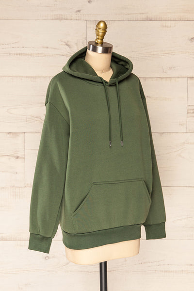 Juxue Forest Green Oversized Hoodie | La petite garçonne  side view