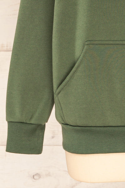 Juxue Forest Green Oversized Hoodie | La petite garçonne  bottom