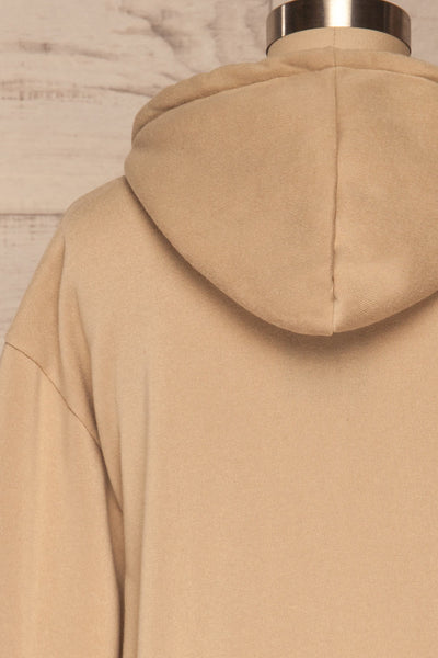 Juxue Sand Beige Hoodie | La petite garçonne back close up