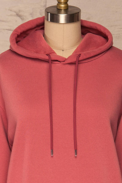 Juxue Sunset Pink Hoodie | La petite garçonne front close up