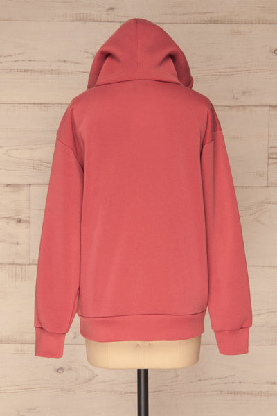 Juxue Sunset Pink Hoodie | La petite garçonne back view up