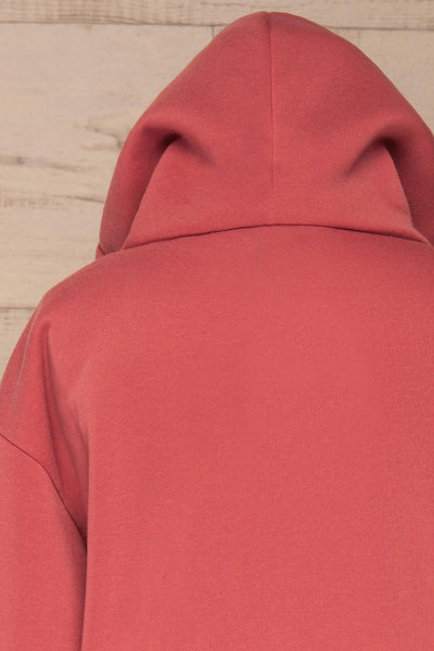 Juxue Sunset Pink Hoodie | La petite garçonne back close up