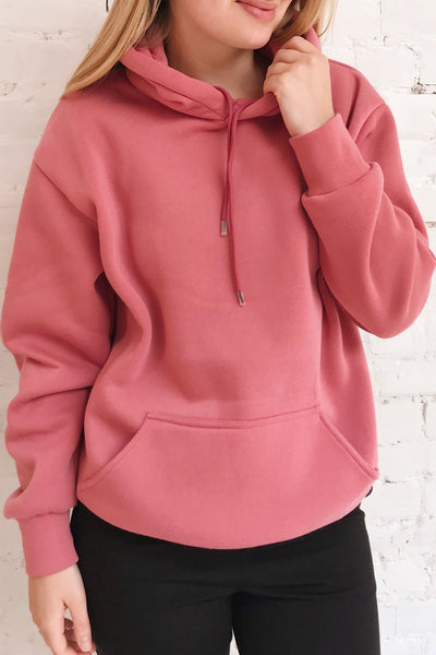 Juxue Sunset Pink Hoodie | La petite garçonne on model