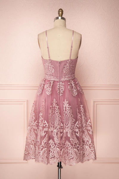 Jyn Rosé | Lilac Embroidered Dress