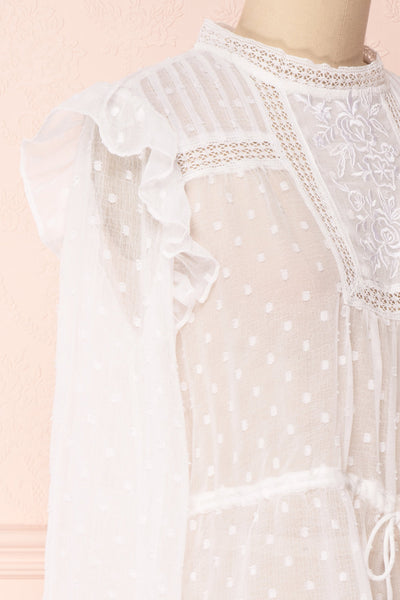 Kaiona Day White Plumetis & Lace Loose Top | Boutique 1861 4