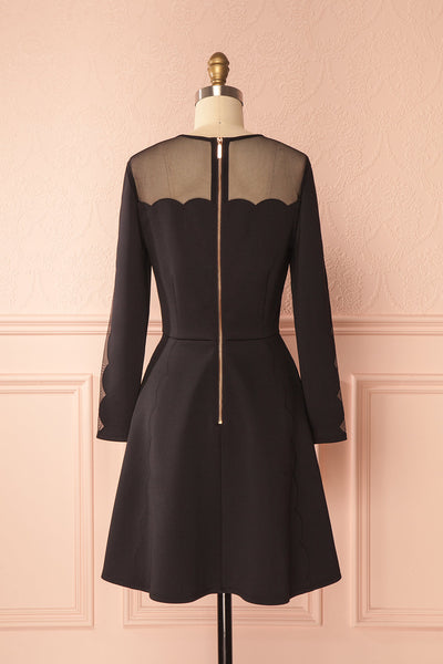 Kaleigh Black Scallops A-Line Ted Baker Dress | Boutique 1861