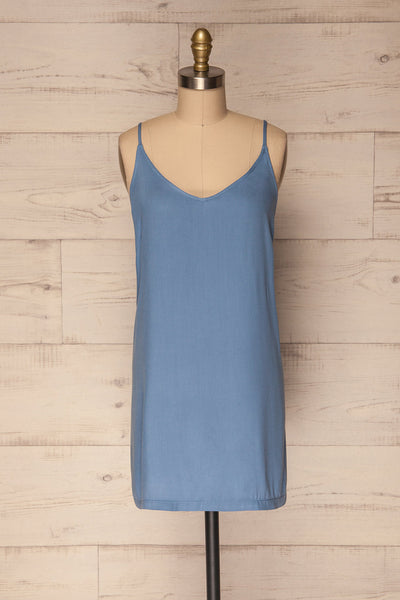 Kalety Simple Blue Summer Slip Dress | La Petite Garçonne