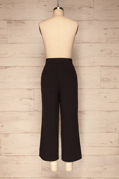 Kalisz Coal Black High-Waisted Pants back view | La Petite Garçonne