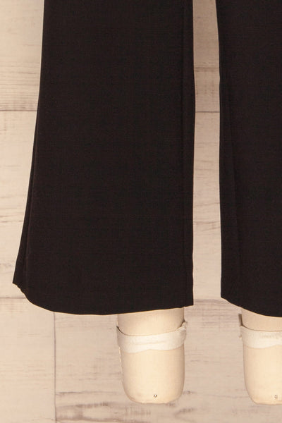 Kalisz Coal Black High-Waisted Pants leg detail | La Petite Garçonne