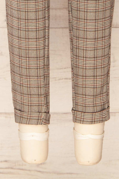 Kaluszyn Grey Straight Leg Plaid Pants | La petite garçonne bottom