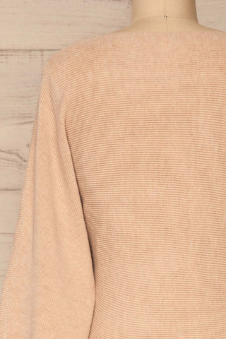 Kamararion Beige Tied Cropped Sweater | La Petite Garçonne back close-up