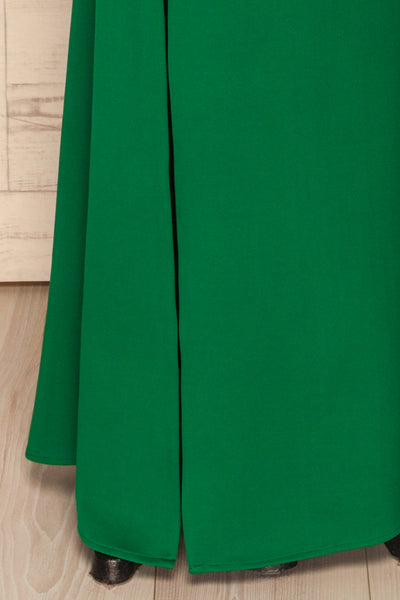 Kamza Green Fitted Maxi Dress w/ Slit | La petite garçonne bottom