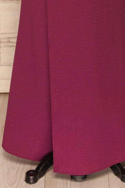 Kamza Purple Fitted Maxi Dress w/ Slit | La petite garçonne bottom
