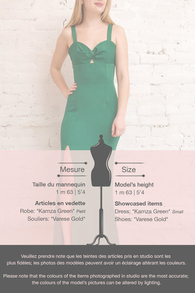Kamza Green Fitted Maxi Dress w/ Slit | La petite garçonne template