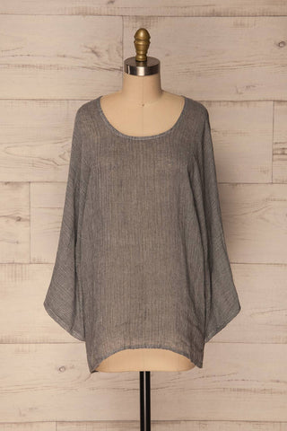 Kanegem Grey Long Sleeve Oversized Top | La Petite Garçonne Chpt. 2