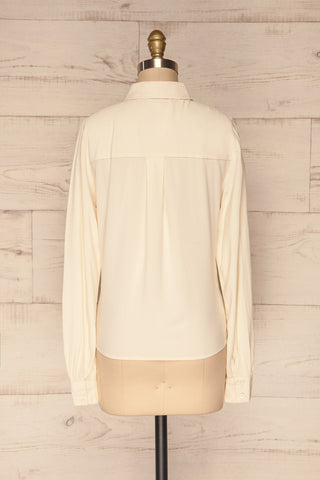 Kargowa Cream Button-Up Shirt with Lace Details | BACK VIEW | La Petite Garçonne