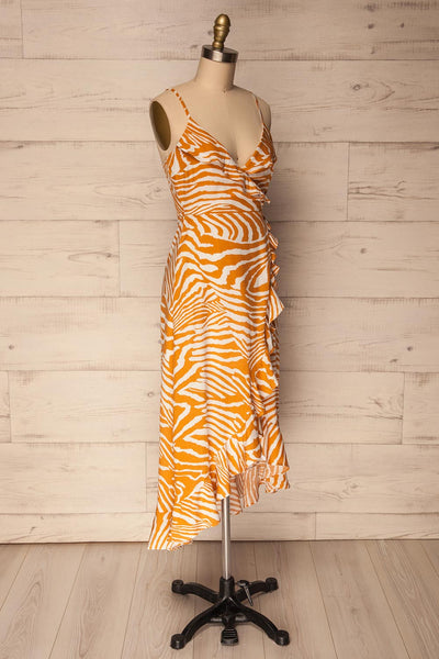 Kartuzy | Orange Zebra Pattern Dress