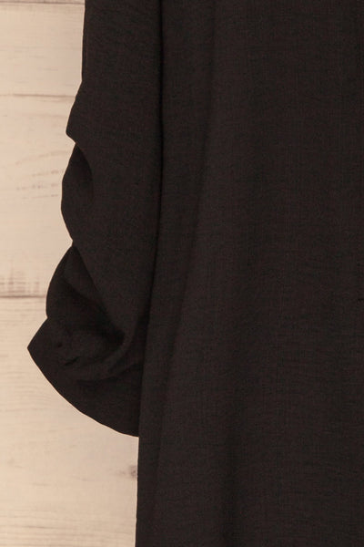 Kasilda Black Shirt | Tunique | La Petite Garçonne sleeve close-up