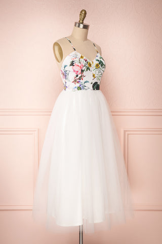 Katalinka White Tulle Floral A-Line Dress | Boutique 1861 2