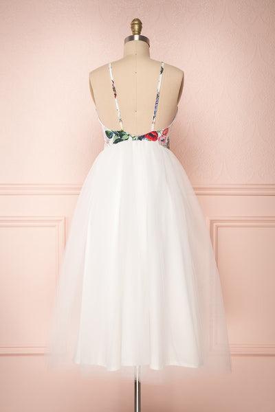 Katalinka White Tulle Floral A-Line Dress | Boutique 1861 4