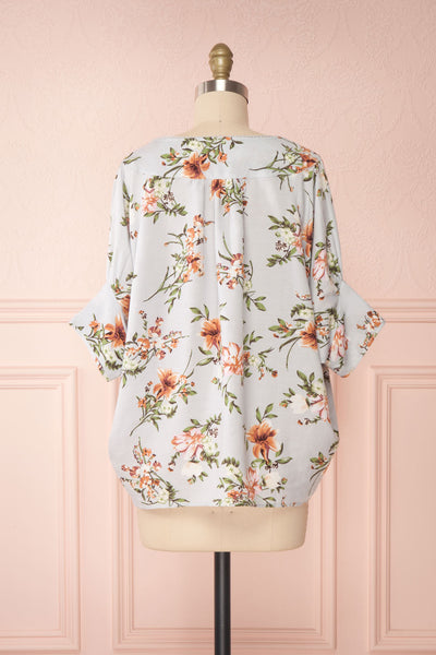 Katinka Light Blue Floral Loose Blouse | Boutique 1861 back view